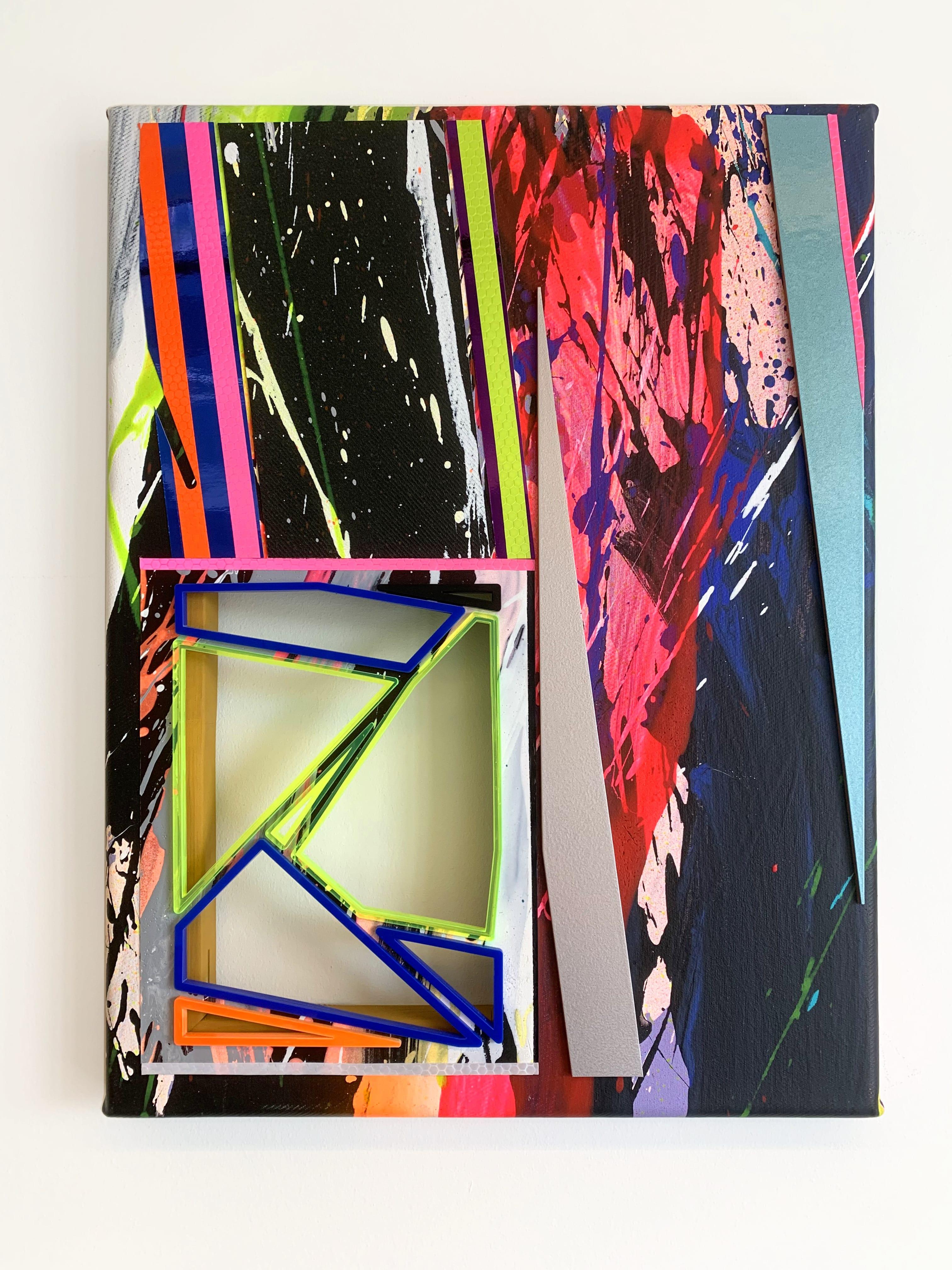 NemesM_FeedForward-01_2020_44x33cm_acrylic-lasercut-perspex-mirror-board-light-reflective-vinyl-carpaint-foamex-PVC-on-canvas-min