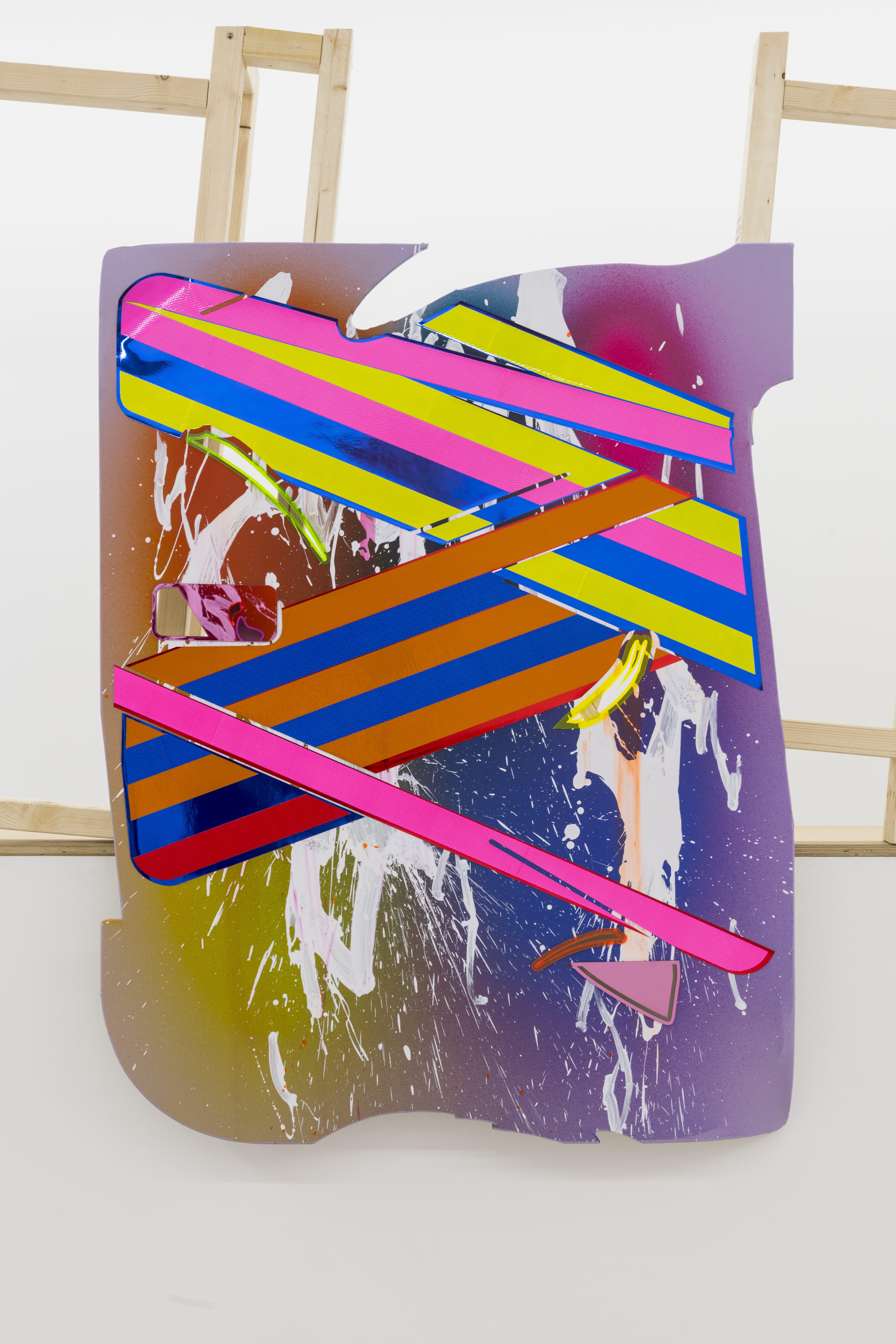 NemesM_Police-Paintings-04_2018_130x100cm_acrylic-light-reflective-vinyl-mirror-paper-lasercut-perspex-canvas-wood-min