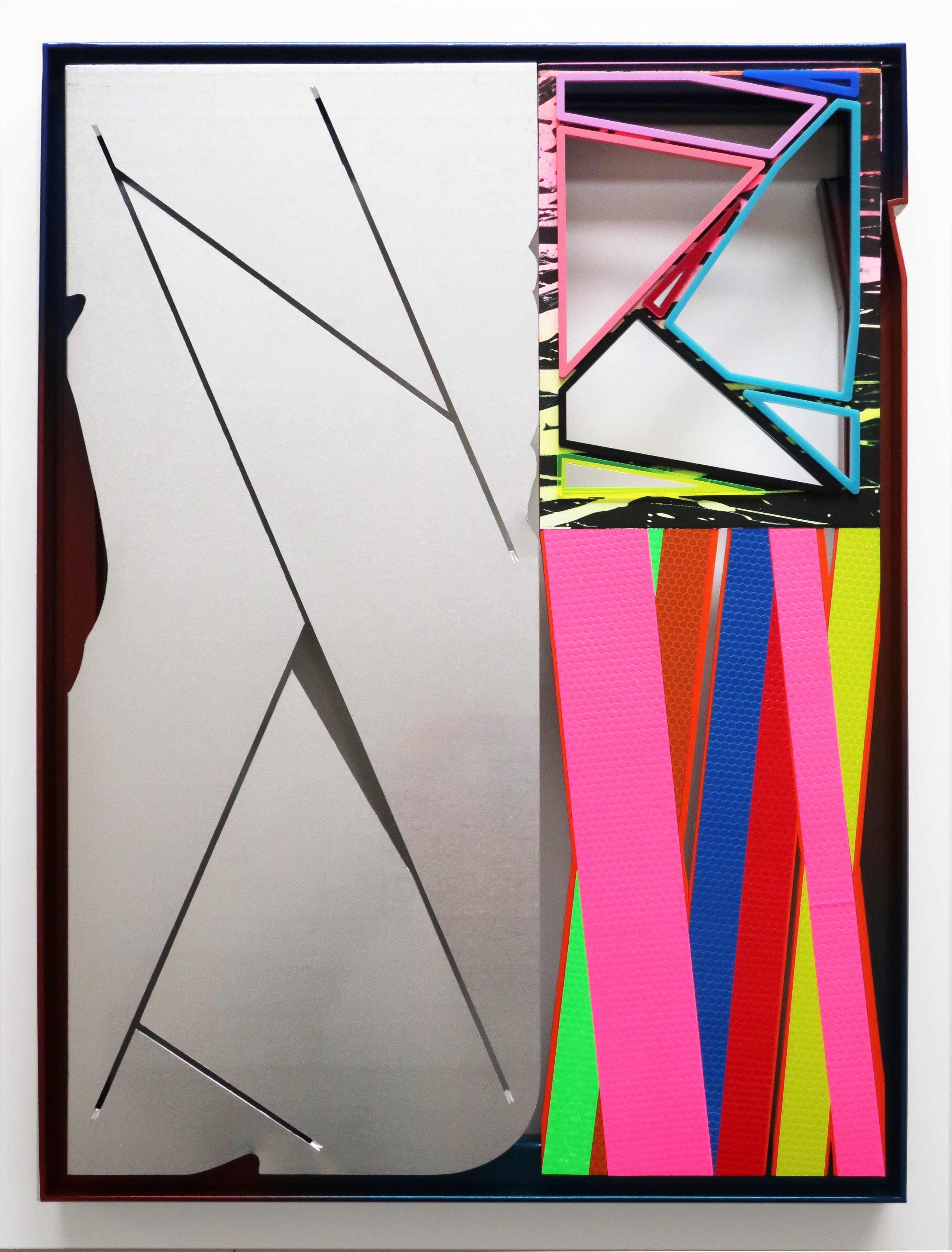 NemesM_Police-Party-03_2019_55x40cm_steel-aluminium-foamex-PVC-lasercut-perspex-light-reflective-vinyl-mirror-paper-acrylic-carpaint-min